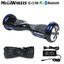 """Megawheels 6.5""""Bluetooth Hoverboard Black Electric Self Balancing Scooter UL+LED"""