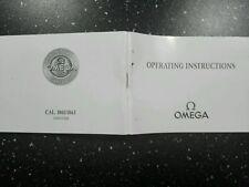 Operating instructions Omega speedmaster PRO cal. 1861 & 1863 circa 2001