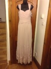 BNWT Embroidered JS COLLECTION Pink Long Evening Dress UK 8 House Of Fraser