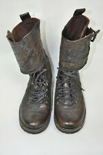 AllSaints  Military Ankle Boots Brown Leather Womens size 37
