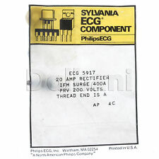 ECG5917 NTE5917 20 AMP Rectifier Philips ECG Component 400A 200V THREAD END IS A