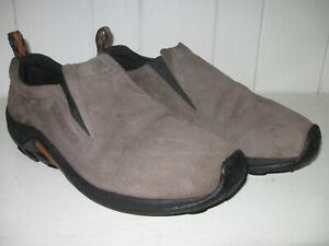 MERRELL Mens Jungle Moc Gunsmoke Suede Leather Slip On Shoe Sz 12