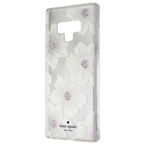 Kate Spade Hardshell Case for Samsung Galaxy Note9 - Clear/Hollyhock Floral/Gems