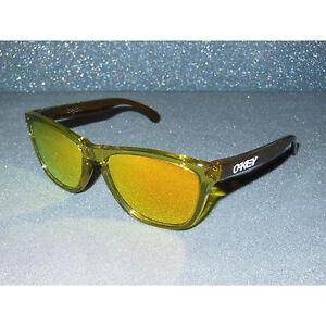New Oakley Frogskins Sunglasses Moto Octane/Fire Iridium Retro 80s Sport USA