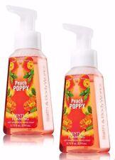 2 Bath & Body Works PEACH POPPY Anti-bacterial Gentle Foaming Hand Soap