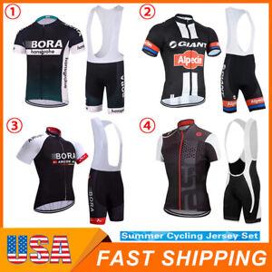 Mens Team Cycling Jersey Cycling Short Sleeve Jersey Cycling Tops Bicycle Jersey