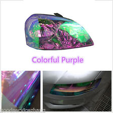 200x30cm Colorful Purple Car Headlight Tint Vinyl Wrap Film Sheet Cover Sticker