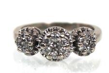 10K GOLD & CLUSTER DIAMOND RING  * STUNNING! * 3 Daisy Ring .40 CTW