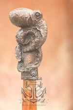 "Antique Style Wood Victorian Walking Stick Cane Spiral Carved 37"" Vintage gift"