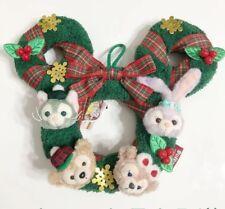 Tokyo Disney Resort Duffy Bear Gelatoni Christmas Wreath Plush Doll Figure 2018