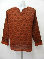 L049 ELEPHANT DESIGN HIPPIE LONG SLEEVE THIN SHIRT BOHEMIAN GYPSY BOHO FASHION