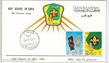 LIBYA -  POSTAL HISTORY -   FDC COVER 1964 - BOY SCOUTS scouting