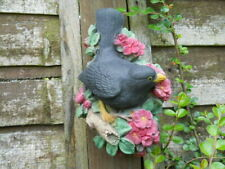 Latex mould of a blackbird wall plaque