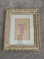 Antique wood gold frame 8 x 10 barbizon
