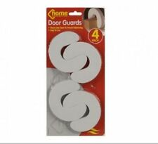DOOR GUARD STOP STOPPER CHILD SAFETY FINGER PROTECTORS PACK 4 WHITE FOAM WEDGES