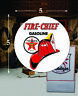 """(1) 5"""" X 5"""" TEXACO FIRE CHIEF GAS VINYL DECAL LUBESTER OIL PUMP CAN LUBSTER"""