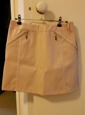 NEW Lipsy Flow Line PU stud pink mini skirt, size 12