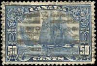 "Stamp Canada Used 1929 50c F-VF Scott #158 ""Bluenose"" King George V Scroll"