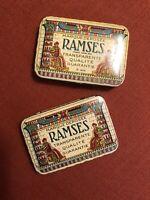 2 Antique Mentholatum Advertising Tins