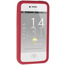 Silicone Bumper for iPhone 4 / 4S - Red