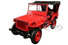 1942 JEEP RED 1/18 DIECAST MODEL CAR BY NOREV 189014
