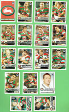 2002 NEWSPAPER  RUGBY LEAGUE CARDS - SOUTH SYDNEY RABBITOHS