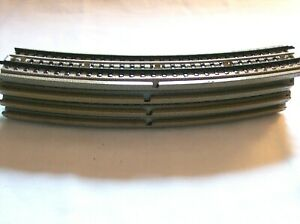 Vintage 10 Marklin B3600A HO Curved Standard Rail Track with Center Rail