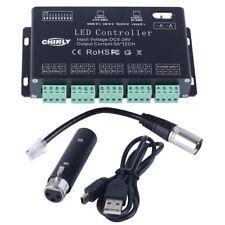 DMX LED Controller12 Channels RGB  DMX Decoder with USB DMX Controller DC5V-24V