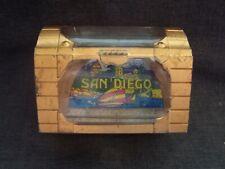 San Diego Ca treasure chest snow globe / snow dome / snowdome, vintage & scarce