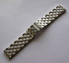 24mm Luxery Solid Heavy Stainless Steel Butterfly Buckle Watch Band Bracelet MEN