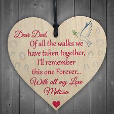 Personalised WEDDING Dad Walking Down Aisle Poem Hanging Plaque Bride Gift Sign