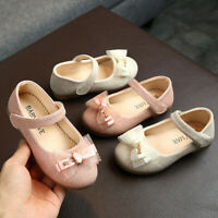 Toddler Baby Kids Girls Shoes BowKnot Bling Single Princess Children Shoes