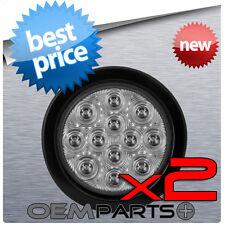2x - TRUCK TRAILER CUSTOM CLEAR LED LIGHT BRAKE TURN TAIL TAILIGHT 12v BRAND NEW