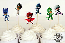 PJ Masks Party Cupcake Toppers Birthday Party Set of 24 pcs