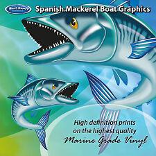Spanish Mackerel Graphics - set of 250mm Boat Graphics