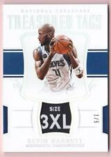 KEVIN GARNETT 2017-18 NATIONAL TREASURES TREASURED TAGS #1/5 TIMBERWOLVES TAG