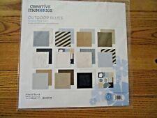 Creative Memories Outdoor Blues Designer Paper Pack 12x12 True 12/pc promo NEW