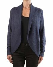 NEW Kenneth Cole New York Ladies Open Front Shawl Cardigan Sweater Anchor Navy S