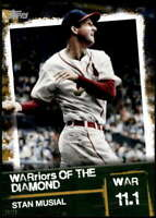 Stan Musial 2020 Topps WARriors of the Diamond 5x7 Gold #WOD-11 /10 Cardinals