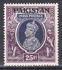 PAKISTAN 1947 KGVI INDIA OVERPRINT DEFINITIVE 25r VALUE SCOTT 19 MNH