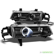 For 1992-1996 Honda Prelude Halo Projector Headlights Black Head Lights Lamp