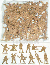 50 pcs Military Plastic Toy Soldiers Army Men Tan 5cm Figures 12 Poses