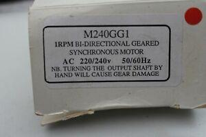 M240GG1, 1RPM BI-DIRECTIONAL SYNCHRONUS MOTOR, 220/240V AC, BRAND NEW,