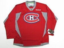 MONTREAL CANADIENS HABS NHL RED REEBOK PRACTICE HOCKEY JERSEY SIZE MEDIUM