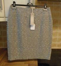 New RRP £190 Anna Lascata Bernice Boucle Skirt Cotton Silk 38 / UK 12
