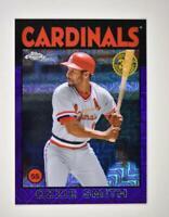 2021 Series 1 1986 Baseball Silver Chrome Purple #86BC-32 Ozzie Smith /75