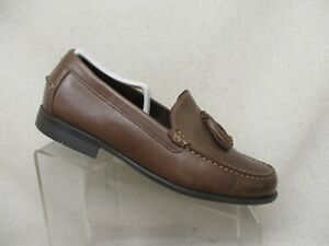 Cole Haan Brown Leather Moc Toe Tassel Loafers Dress Shoes Mens Size 9 M
