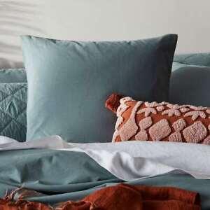Stonewashed cotton Euro Pillow case Sage