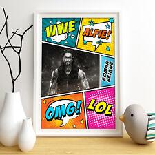 Roman Reigns personnalisé affiche d'impression A4 Mur Art Personnalisé Nom ✔ livraison rapide ✔
