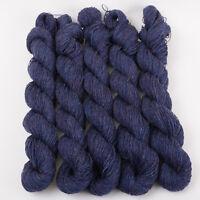 *250g*BRITISH PURE WOOL* 4 ply. Denim Blue.Denim.knitting.100%.tweed.yarn.purple